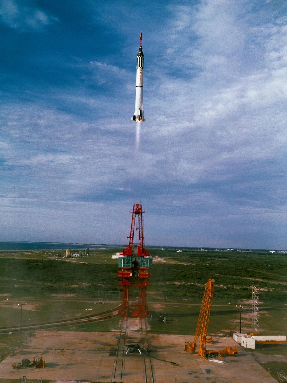 (21 July 1961) --- Mercury-Redstone 4 (MR-4) launch