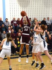 Nutley senior Blair Watson shoots a jump shot in a 2016 state tournament game at West Morris Central High School.