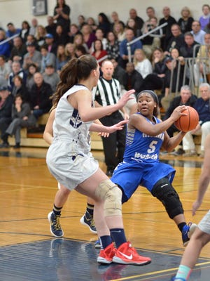 Cedeja James (5) led the way as Teaneck topped Holy Angels.