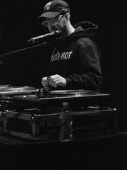 Daringer takes over deejay duties during a show with his Griselda labelmates at the House of Blues in Chicago.