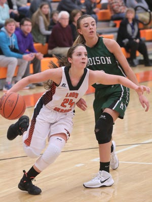 Ashland's Alyssa Steury took scoring honors with 25 points in Thursday's win over Madisoin.