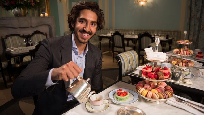 Dev Patel says he's on a sugar high. Macaroons for everyone!