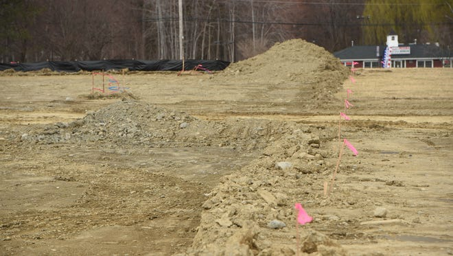 A view of the construction for the East Fishkill Sports Dome off of Route 52.