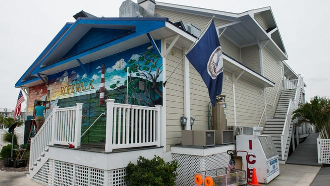 An exterior view of Ropewalk Chincoteague on Thursday, June 22, 2017.