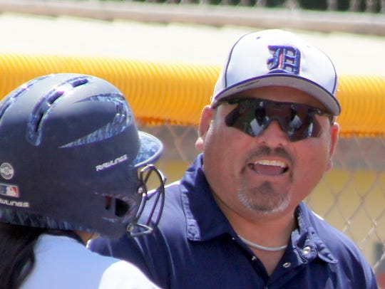DHS Softball Coach Noel Nunez is optimistic about meshing the seasoned and young players into a competitive varsity unit.