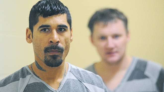 Marcos Antonio Davila, Jr., 34, is escorted into Minnehaha County Court Monday, Jan. 11, 2016, in Sioux Falls.