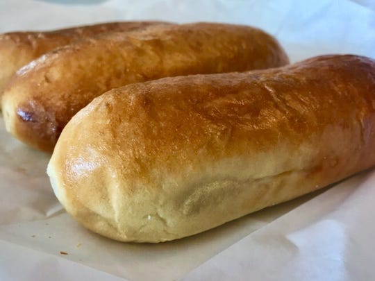 Two sausage kolaches from Coaches' Kolaches.