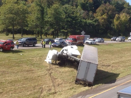 I-84 tractor-trailer accident