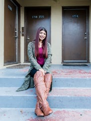Nubia Flores Miranda, 18, at her home in Oakland, Calif.,