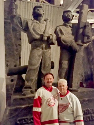 David and Sheryl Bieniak of Dearborn took the D to the Wieliczka Salt Mine in Poland during a trip celebrating their 20th anniversary in September 2017.