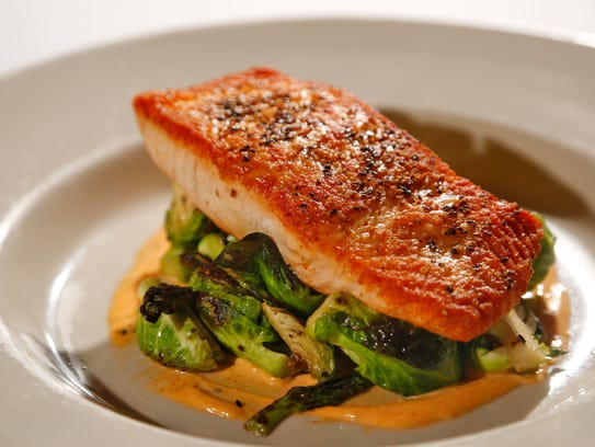 Salmon with Brusseld sprouts from Lucca in the East