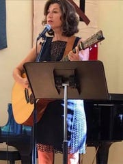 Amy Grant sings during a recent worship service at