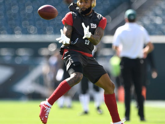 New York Giants wide receiver Odell Beckham Jr. makes