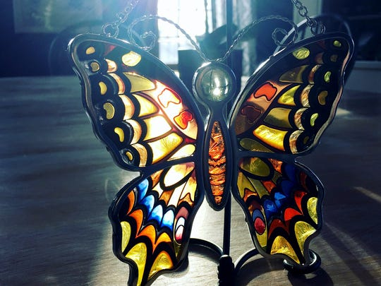 Natalie Potter gave Beth Vrabel this butterfly when they met, 14 years after Vrabel was assigned to share Potter's brother's story. Matthew Potter died Sept. 10, 2001 after a ride malfunctioned at the York Fair.
