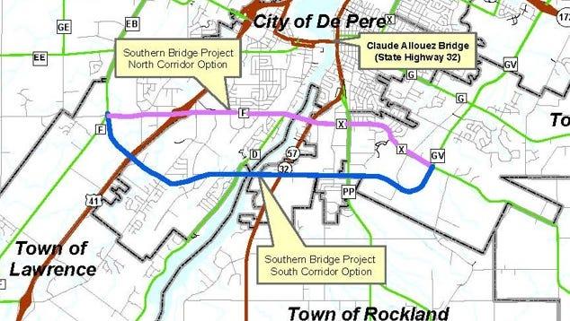 Southern bridge project corridor location options