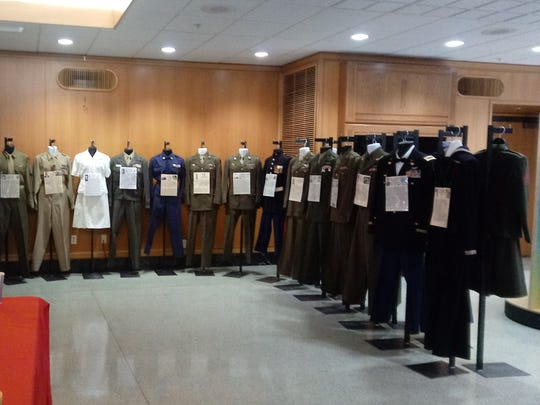A rotating exhibit from the VFW 661's Uniform Display