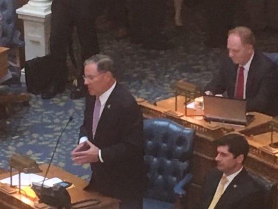 Assembly Minority Leader John Bramnick, R-Union, speaks