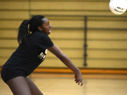 Taylor Hunter is one of the top players for the Oak Park girls volleyball team, which clinched a league crown and will be looking to make a run at a CIF-Southern Section  title.