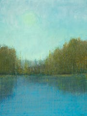 """""""Still Waters,"""" oil pastel by George Shipperley, part"""