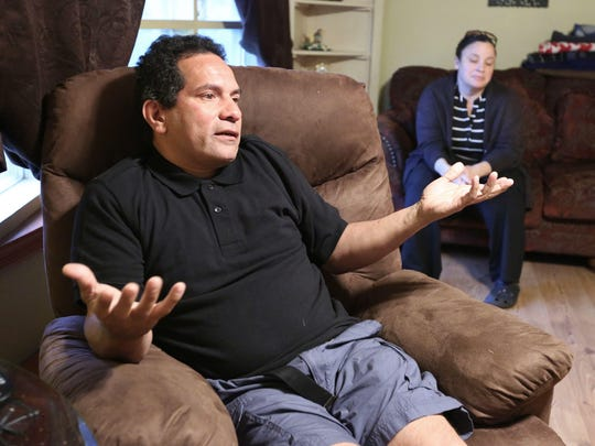 Raul and Mirna Laguerre at their Newburgh home May 22, 2017. Their son, Raul Laguerre Jr. has completed his 10-year criminal sentence for sexual assault charges, including sodomy, and is being confined indefinitely under New YorkÕs civil commitment law for mentally ill sex offenders.