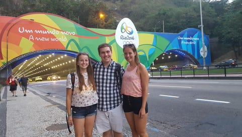 CultureCloud CEO Jeff Eker (center) is in Rio to test his traveling app during the Olympics.