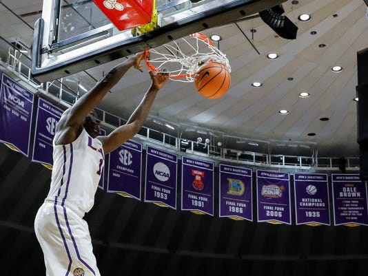 NCAA Basketball: Stephen F. Austin at Louisiana State