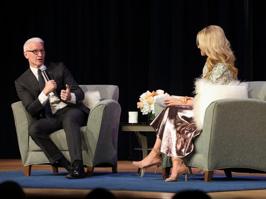 """Kaplen JCC on the Palisades features premiere broadcast journalist and Emmy-winning CNN anchor Anderson Cooper introducing the """"Patron of the Arts"""" program, a new initiative to provide subscribers with access to cultural arts performances, films, exhibitions, and literary events at Kaplen JCC on the Palisades, presented in the Taub Auditorium. Raina Seitel, host and correspondent for NBC's New York LIVE moderated the event."""