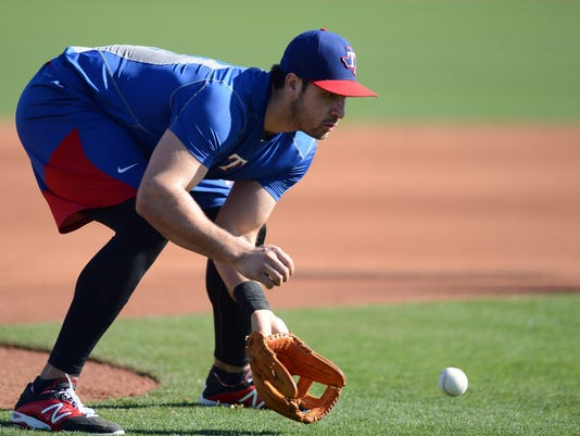 MLB: Texas Rangers-Workouts