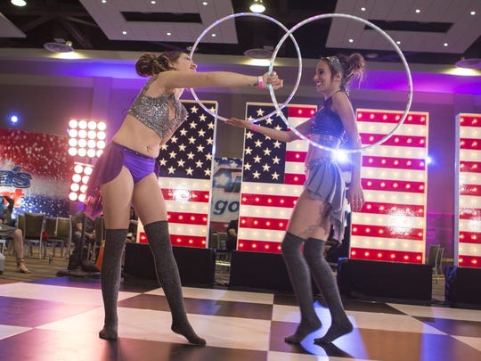 Performers practice their act  for the Phoenix 'America's