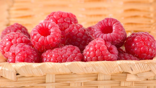 Fruits high in antioxidants, such as raspberries, can protect skin health.