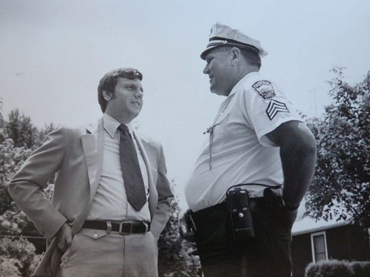 Butler County politician Mike Fox in a photograph with his dad Benjamin in 1974.
