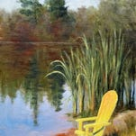 """Angela Campbell's painting """"The Yellow Chair,"""" one of the works in the exhibit """"Color in the Landscape"""" at Jane Morgan Gallery."""