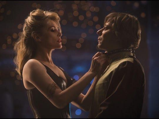 "Emmanuelle Seigner and Mathieu Amalric star in Roman Polanski's two-person movie ""Venus in Fur."""