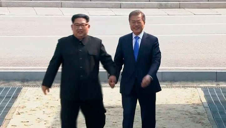 In this image taken from video provided by Korea Broadcasting