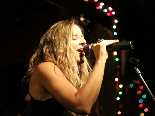 """Currently residing in Los Angeles (raised in Orange, CT), Shari Puorto is """"a soulful singer with a sexy and raspy sound. Like Joplin, Puorto is a passionate performer with an energy that can rattle the foam in a pint of Pilsner."""" Kevin, Pubclub.com"""