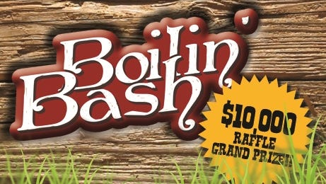 Boilin' Bash ticket holders enjoy a Louisiana Extravaganza Dinner of hot boiled shrimp, corn and potatoes, select fried catfish, and french fries with a selection of award-winning local brews presented by Bayou Teche Brewing.