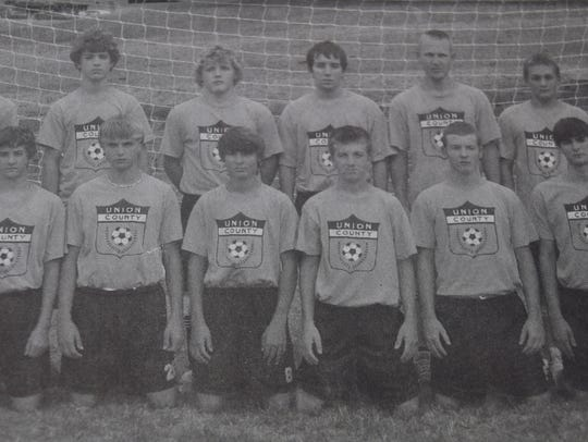 The Varsity Boys soccer team in 2007 was (front, left