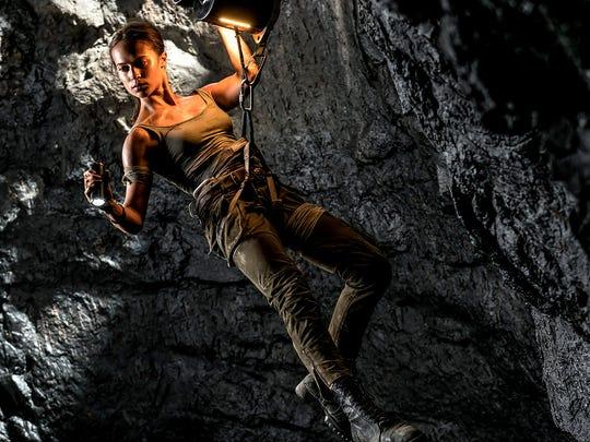 Alicia Vikander stars  as Lara Croft in 'Tomb Raider.'