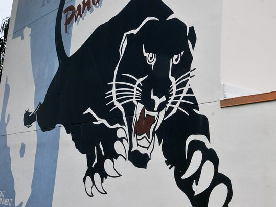 A Florida Tech panther at the university's Melbourne
