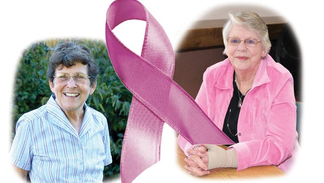 Faye Goddard and Mary Alice Weber are breast cancer survivors thanks to early detection.