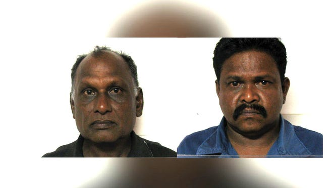 Sundram Allagan and Parameswara Somasumdaram are shown in this combined photo.
