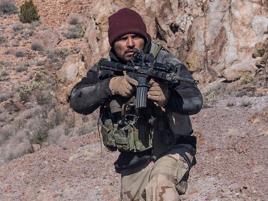 "Michael Peña stars in ""12 Strong."""