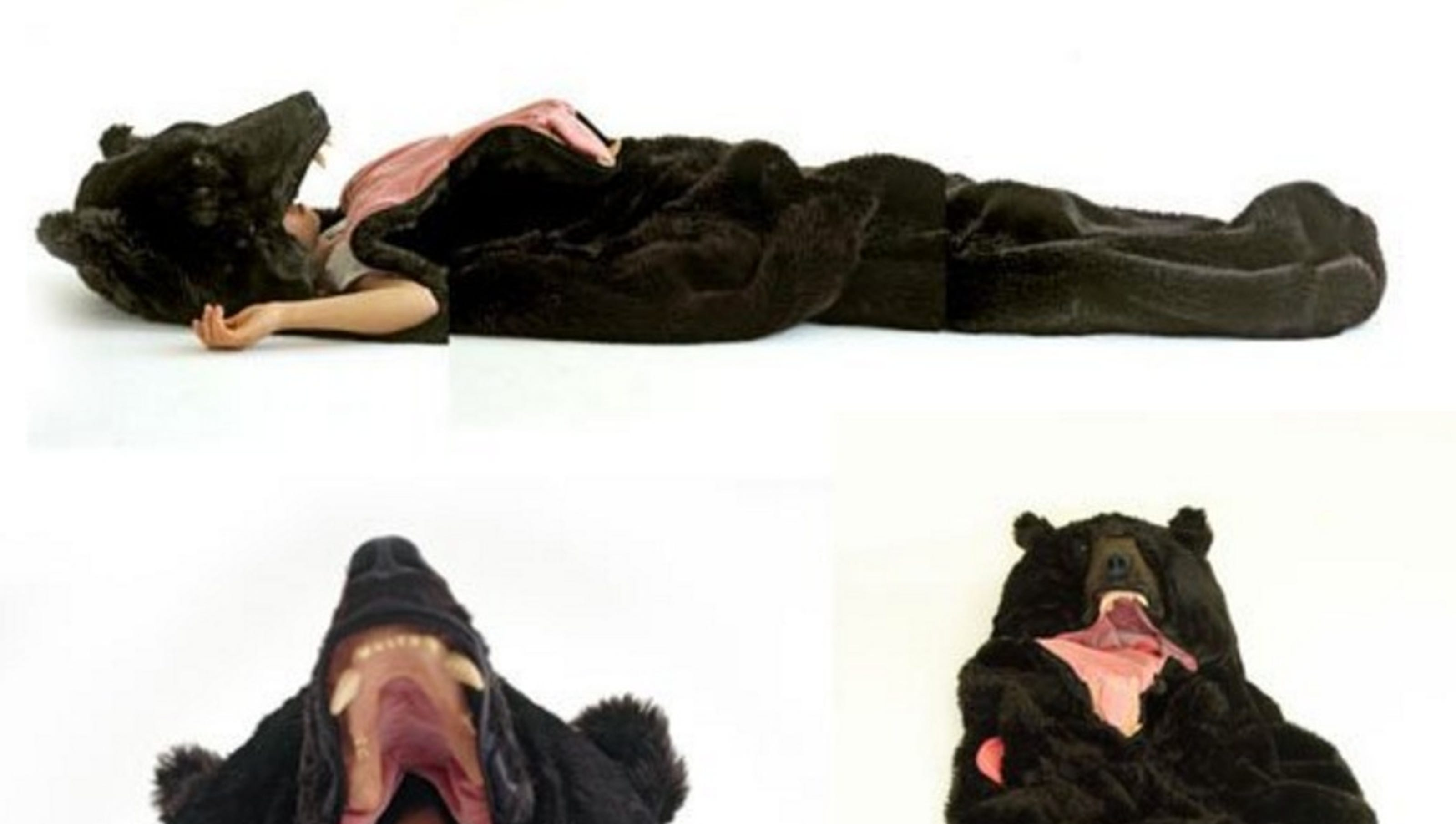 Here's a bear sleeping bag for all your winter hibernation ...