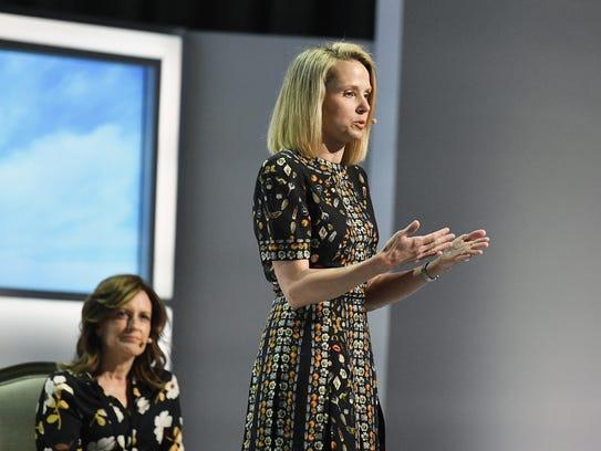 Former CEO of Yahoo! Marissa Mayer .