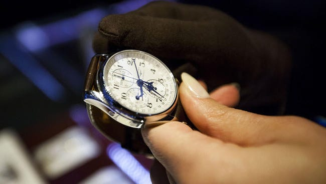 Illustration of keeping time / time management.