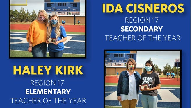 Frenship ISD teachers Haley Kirk and Ida Cisneros were both awarded Region 17 Teachers of the Year.