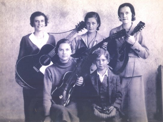 The Lovingood siblings, from left, back row, Mary Lou,