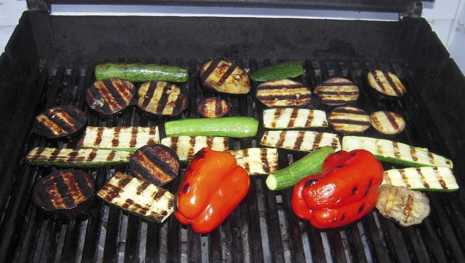 Grilled vegetables on their way to becoming ratatouille on August 28, 2010.
