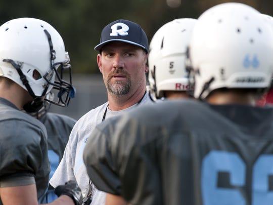 Redwood High School head football coach Shaun Ball,