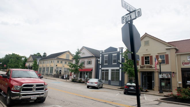 Hudson City Council is considering a proposal to convert Park Lane, shown, and Village Way to the north into one-way streets between First and Library streets in order to add a total of 20 parking spaces in the downtown shopping district.